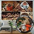 Fototapete Kaffee Wandbild Dekoration Küche Coffee Collage Kaffeetasse Küchendeko Kaffeebohnen Kaffeemühle Kaffeebilder   Foto-Tapete Wandtapete Fotoposter Wanddeko by GREAT ART (210 x 140 cm)