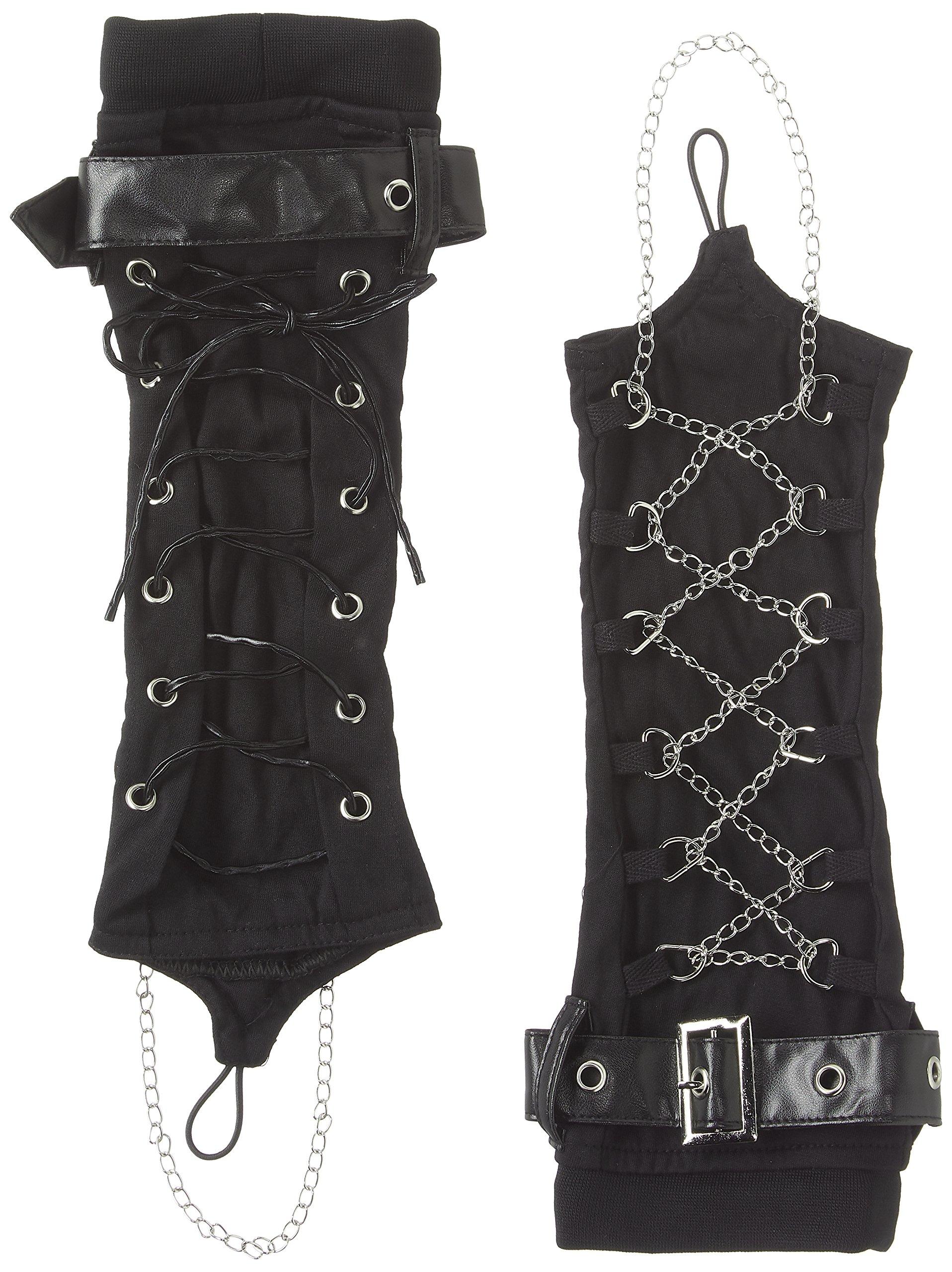 Hippies Women's Mittens Arm warmmer Punk Vkei Gothic Rock One Size,Black 8532