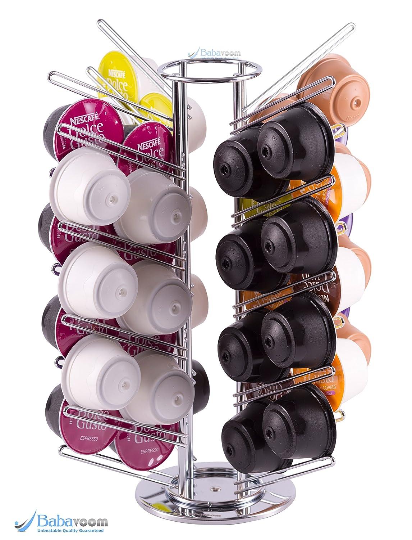 Soporte dispensador rotativo de 56 cápsulas Dolce Gusto   Babavoom® DG56: Amazon.es: Hogar