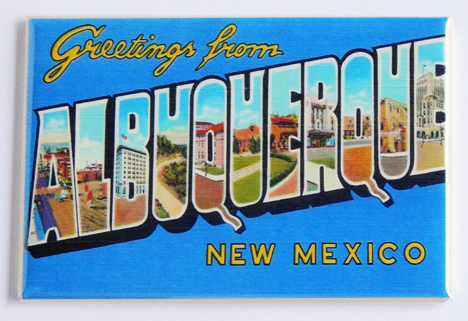 Greetings From Albuquerque New Mexico Fridge Magnet