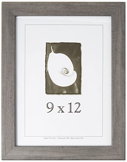 amazon com wood picture frame grey series 9x12