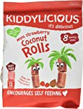 Kiddylicious Strawberry Coconut Rolls, 54 g, Pack of 5