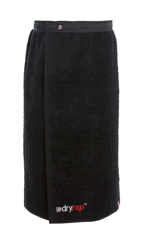 Dryrobe dryrap - asciugamano piscina telo mare - cotone - taglia unica - Nero