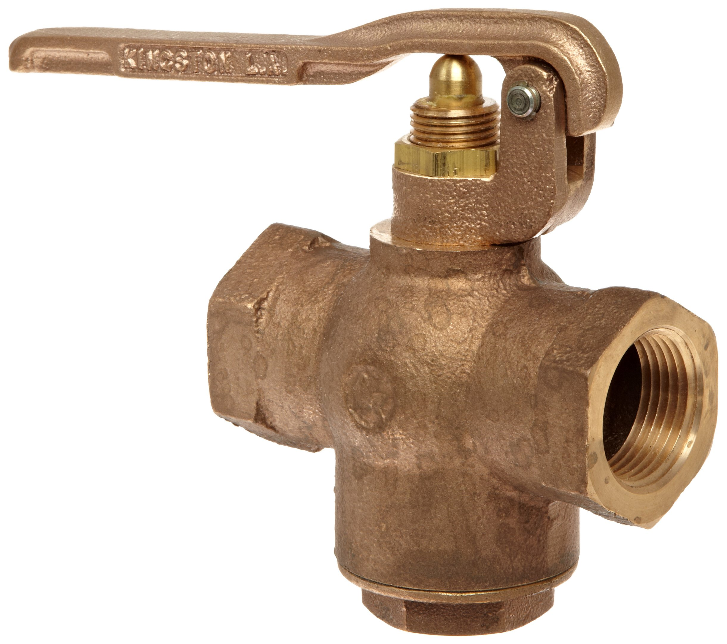Kingston 305A Series Brass Quick Opening Flow Control Valve, Squeeze Lever, 1'' NPT Female