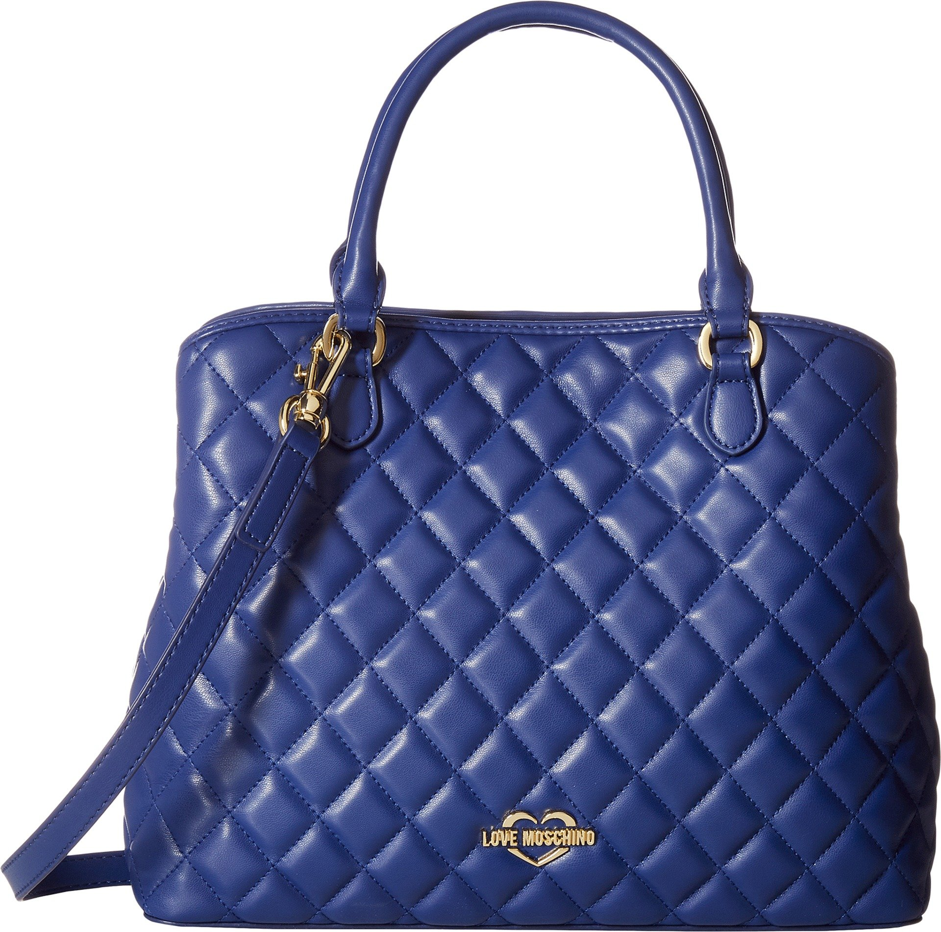 LOVE Moschino Women's Super Quilted Tote Navy One Size