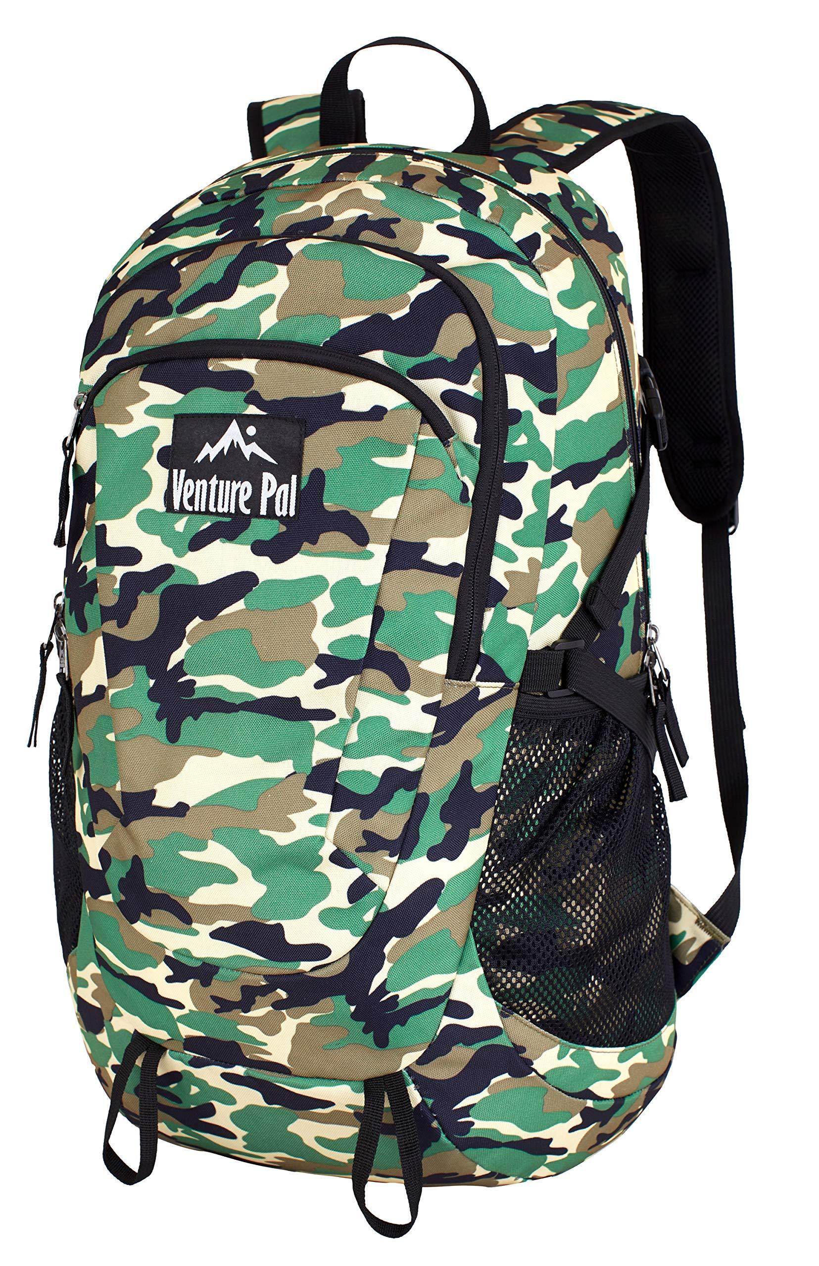 Venture Pal Large 45L Hiking Backpack - Packable Lightweight Travel Backpack Daypack(Green Camo)