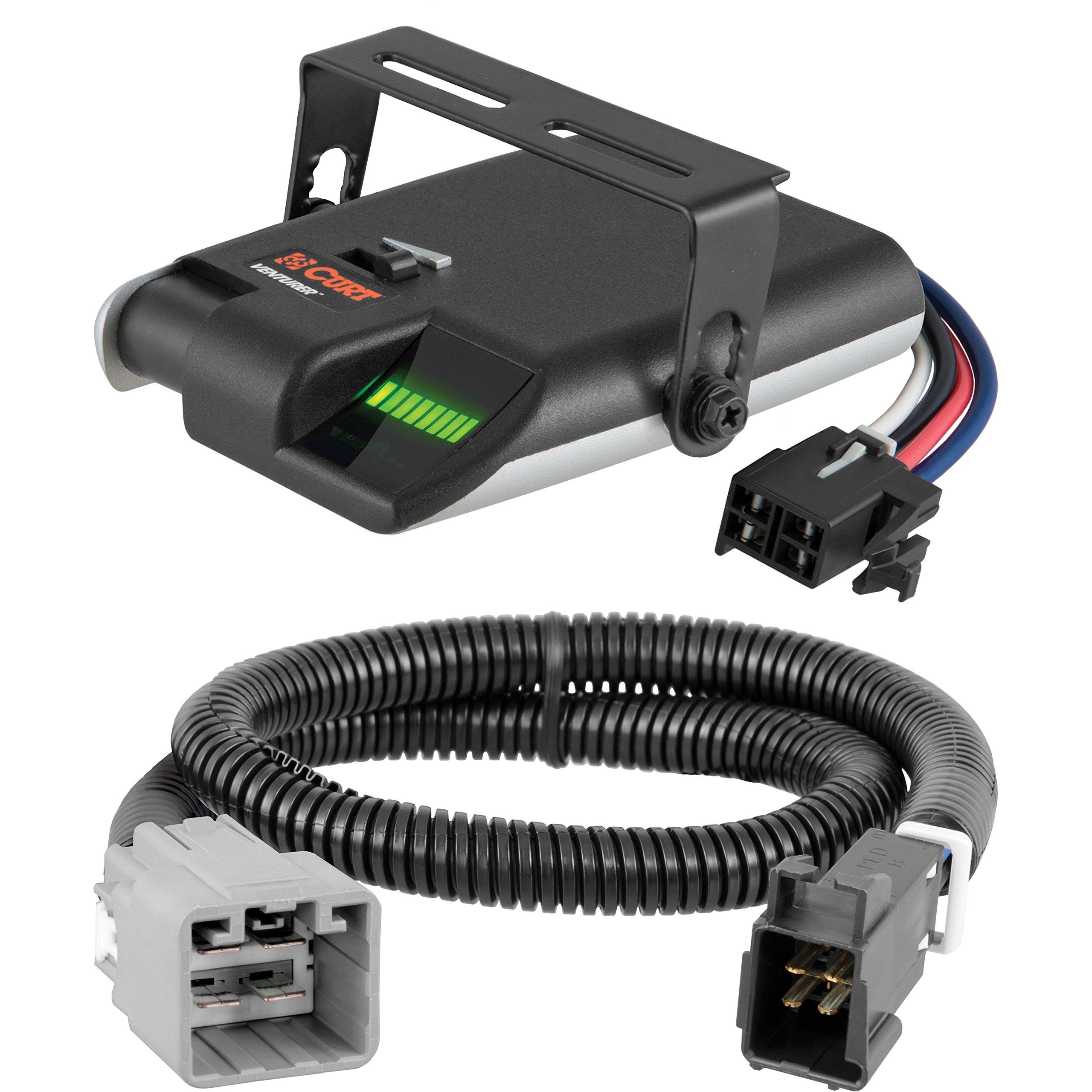 CURT Venturer Brake Controller & Wiring Kit for 2015-2016 Ram 1500, 2500, 3500 - 51457 & 51110