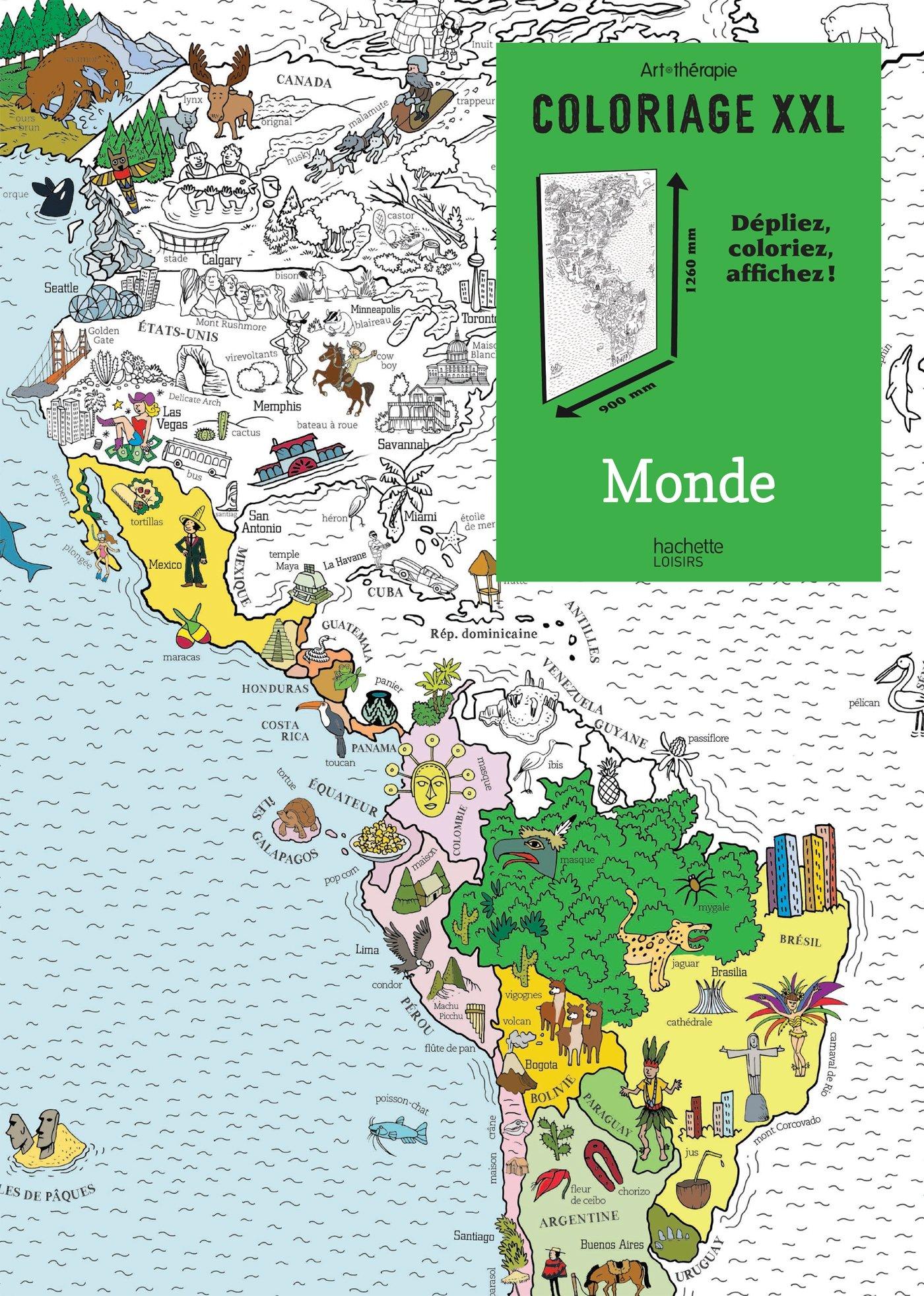 Coloriage Xxl Monde French Edition Mademoiselle Eve Hachette 9782013968799 Amazon Com Books