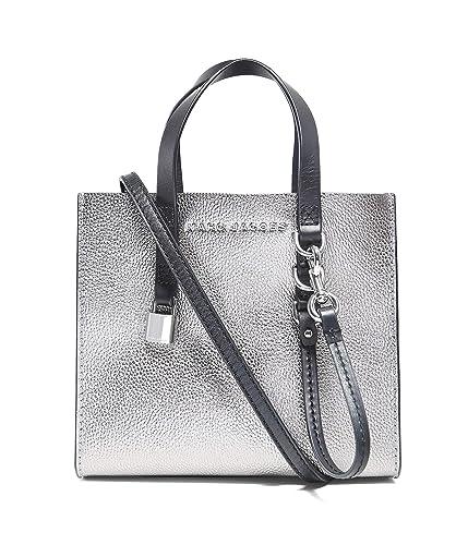 34c24985d16ad Amazon.com  Marc Jacobs Women s Mini Grind Metallic Shoulder Bag Silver One  Size  Shoes