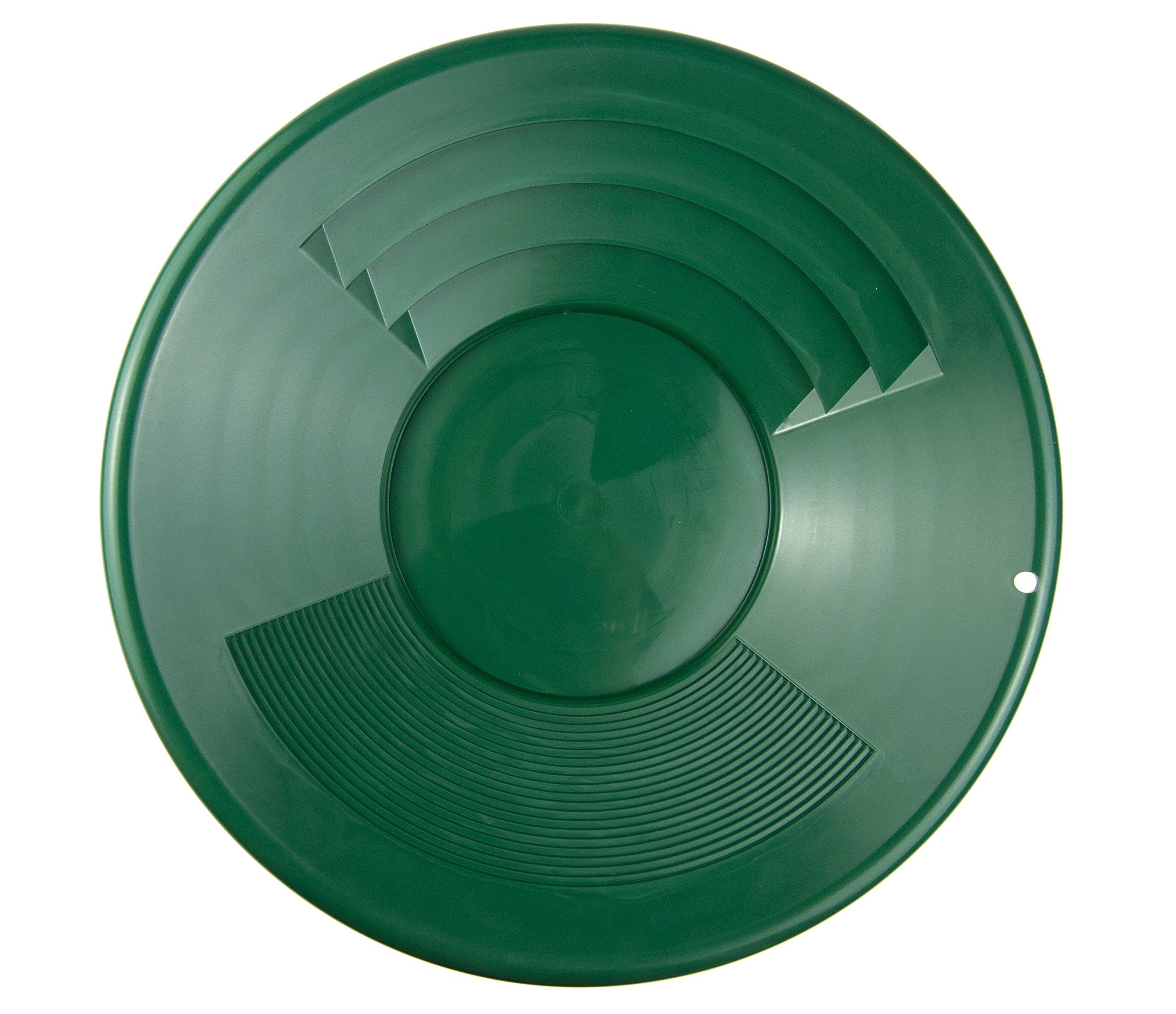 SE GP1014G14 14'' Green Plastic Gold Pan with Two Types of Riffles by SE (Image #2)