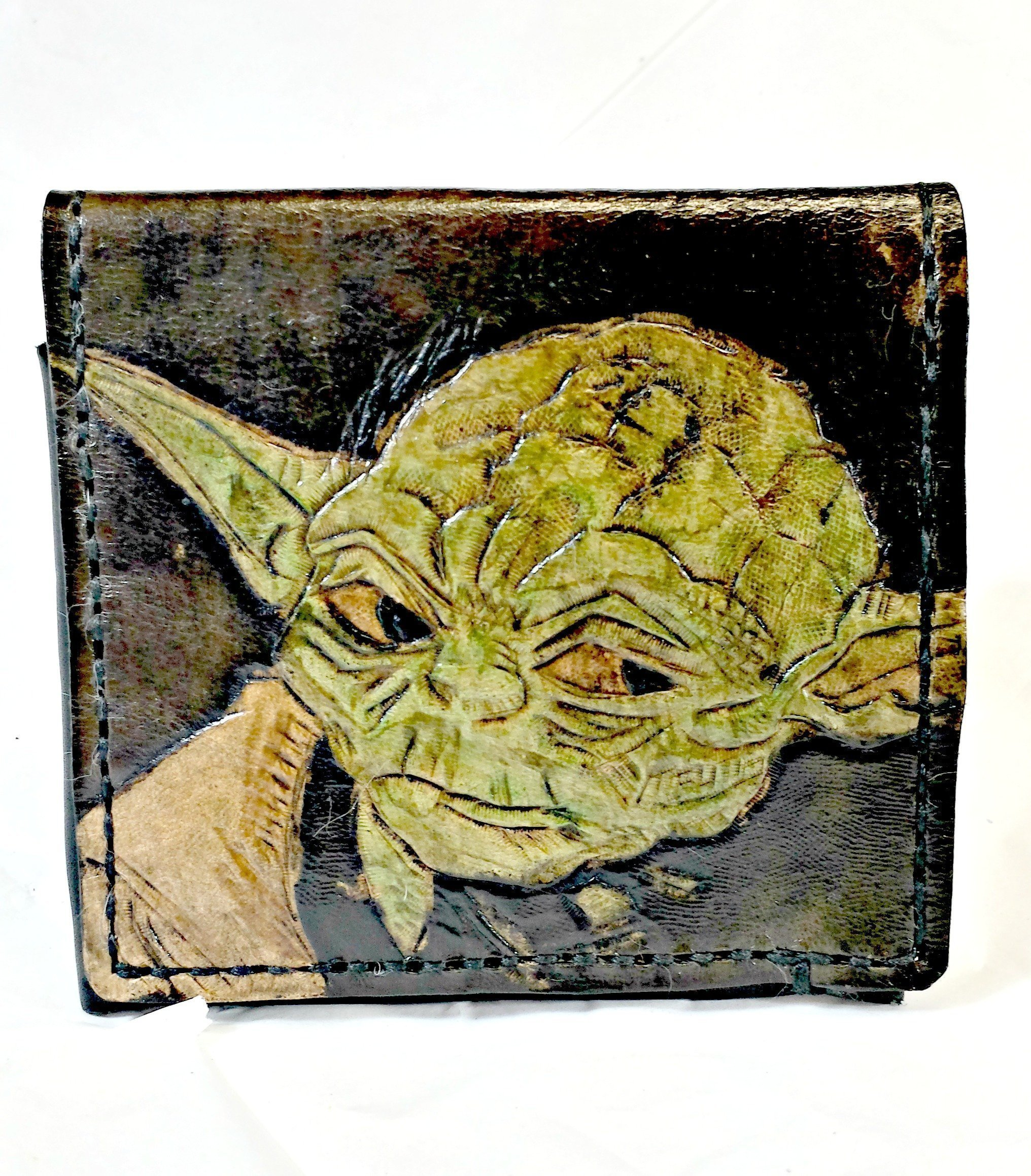 Handmade Leather Star Wars Yoda Wallet