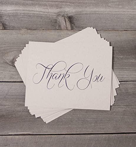 Amazon Com 80 Qty Printed Country Rustic Wedding Thank You Card