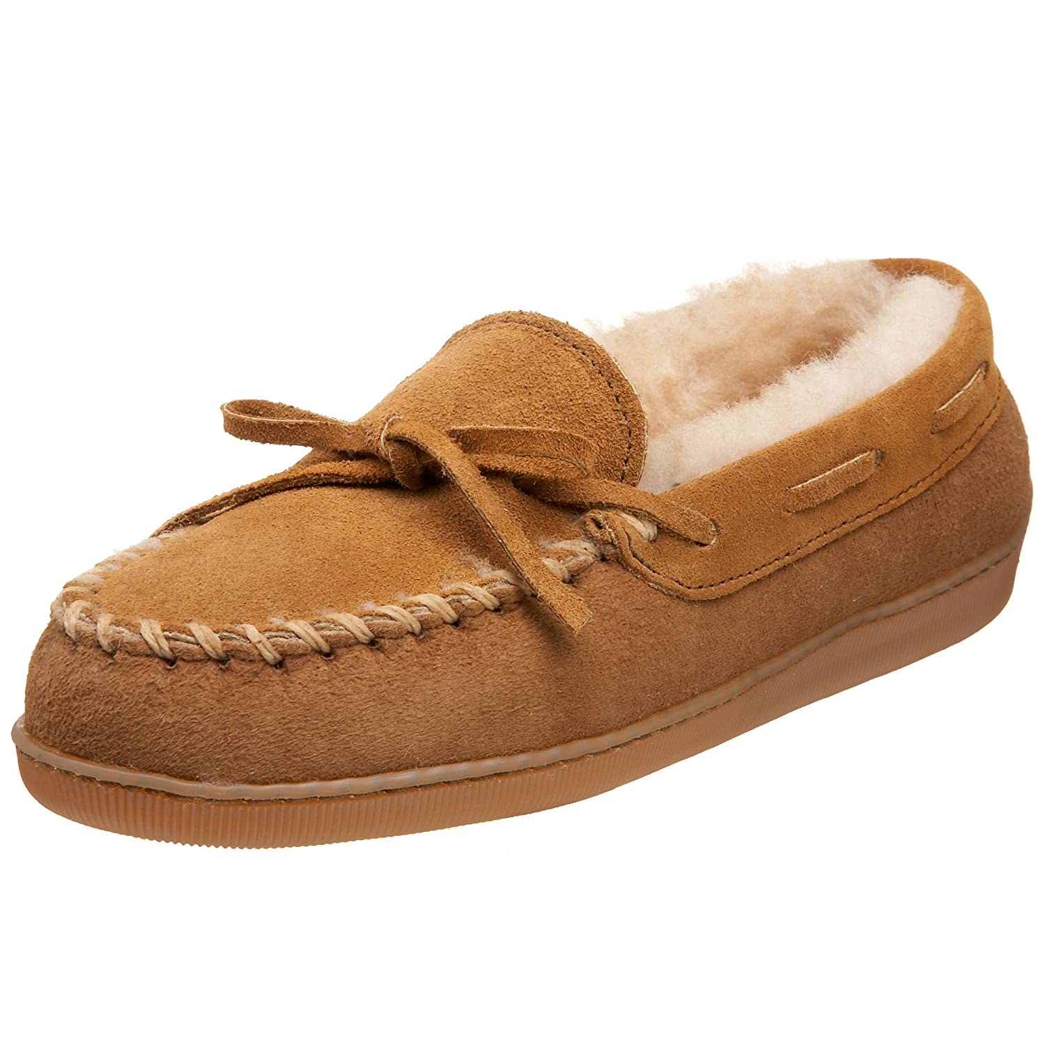Minnetonka Women's Sheepskin Hardsole Moccasin