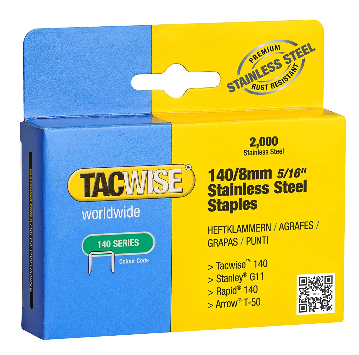 tacwise 140 1 4 inch to 9 16 inch staple selection