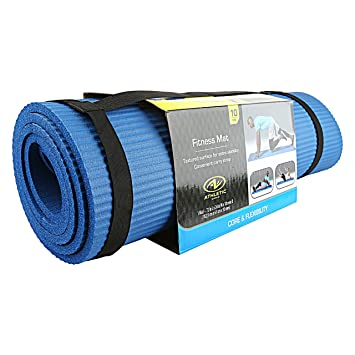 Amazon.com: Athletic Works Fitness Mat 10 mm Extra Thick ...