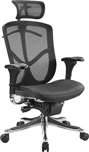 Eurotech Seating Fuzion Luxury High Back Chair, Black