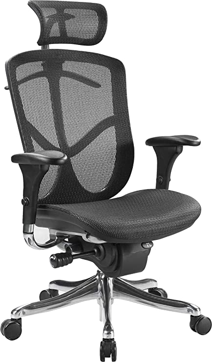 Eurotech Seating Fuzion Luxury FUZ9LX HI High Back Chair, Black
