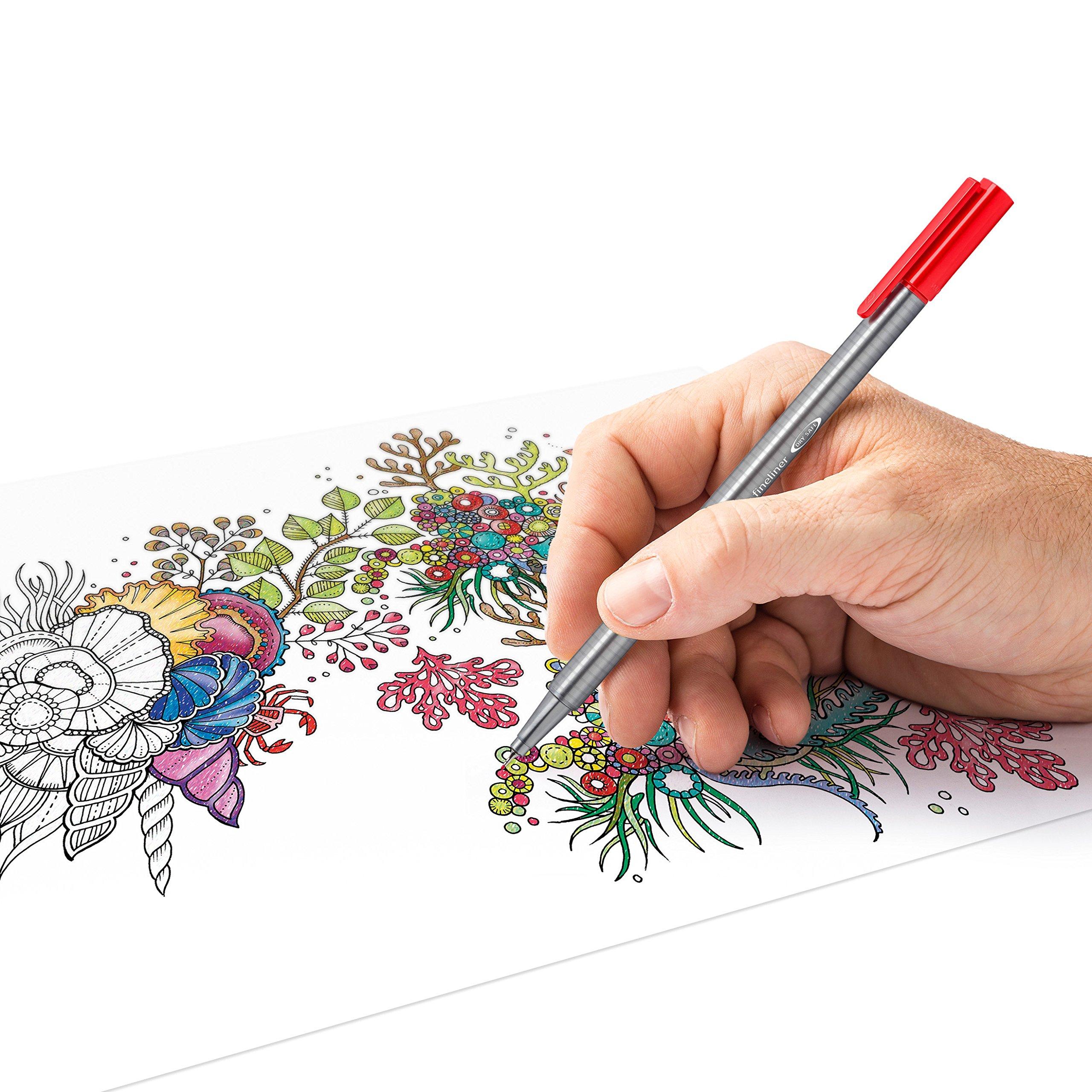 Staedtler Color Pen Set, 334M50JB - Set of 50 Assorted Colors in metal tin box (Triplus Fineliner Pens) by Staedtler (Image #4)