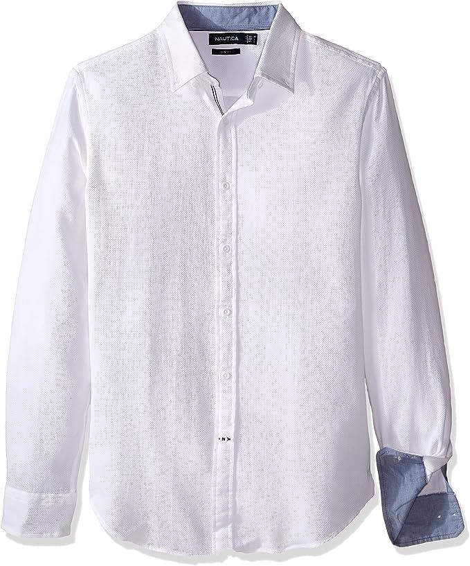 Nautica Stripe Slim Fit Camisa Casual para Hombre: Amazon.es: Ropa y accesorios