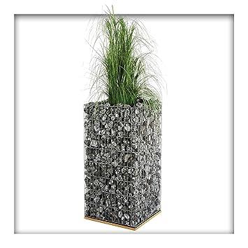 Gabionen Pflanzsaule Inkl Bewasserungssystem Hochbeet Steinkorb