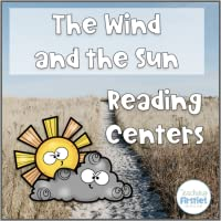 Aesop's Fable Reading Comprehension Center - The Wind and the Sun