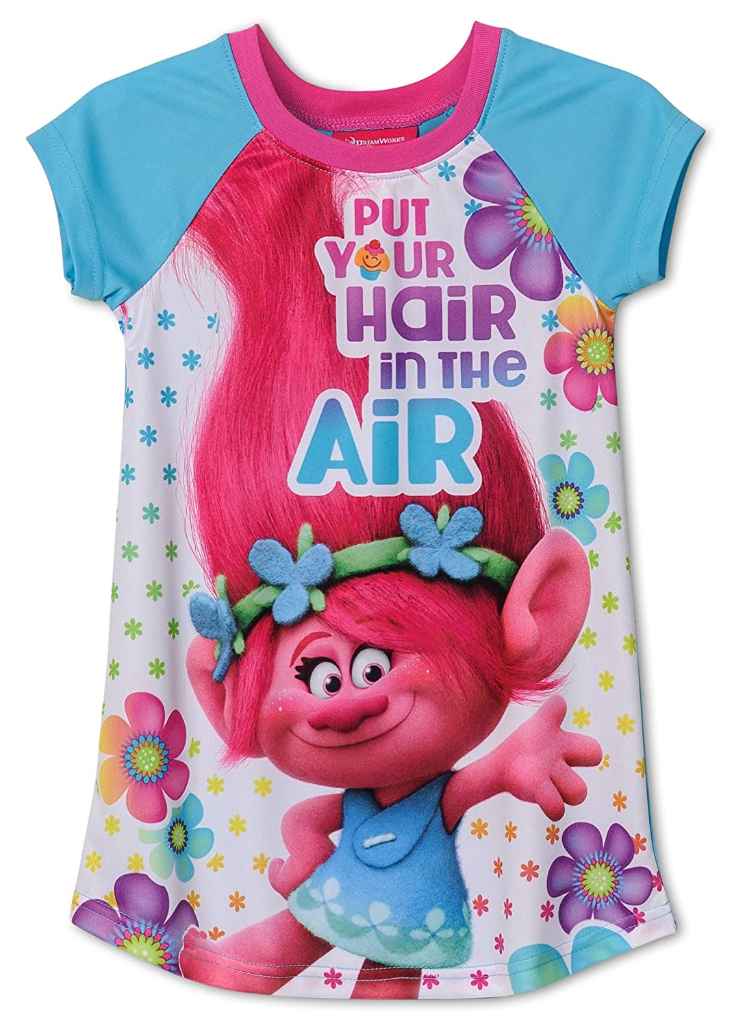 Trolls DreamWorks Movie Put Your Hair Up Nightgown for Big Girls manufacturer TP012GDS