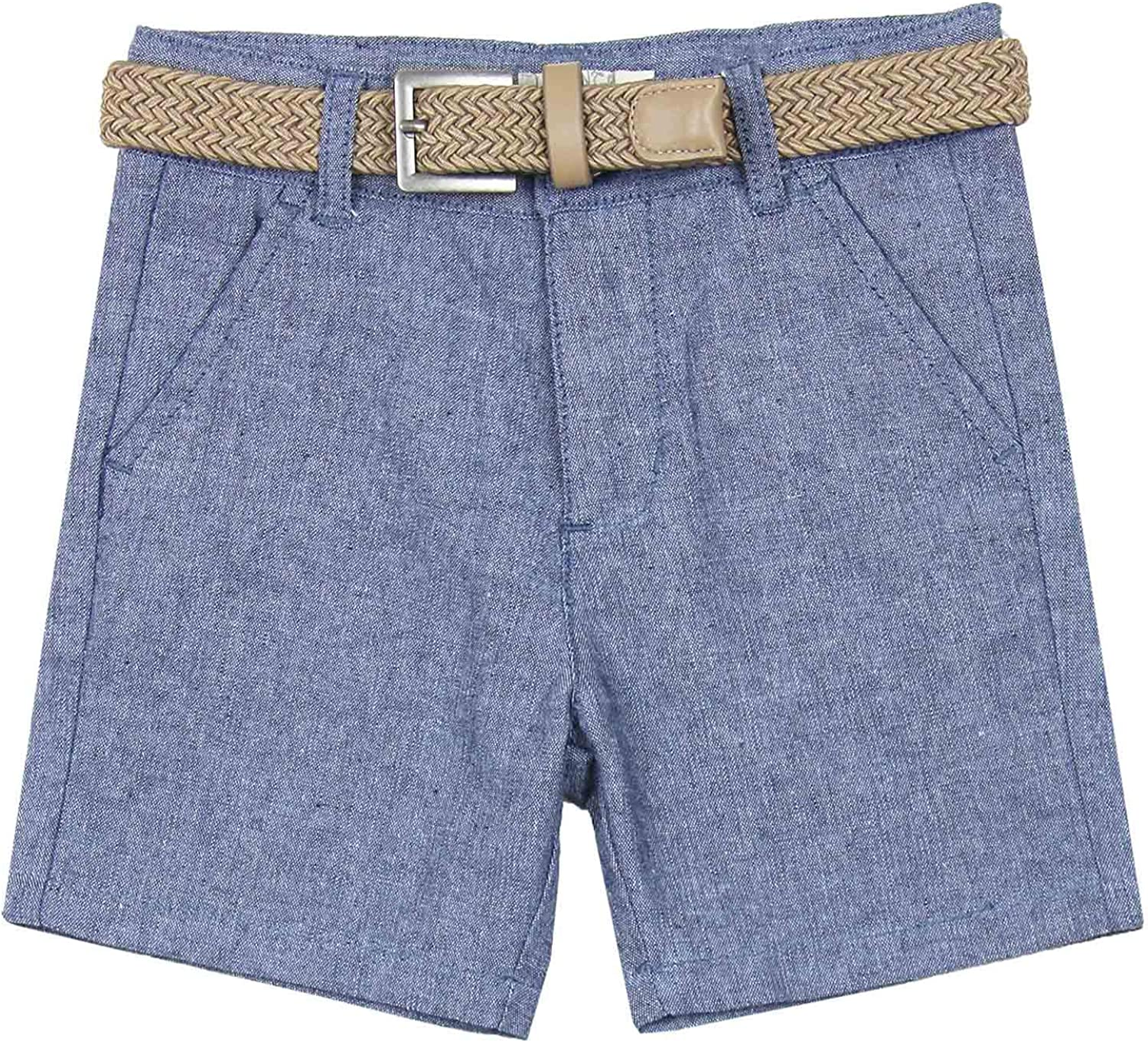 Losan Boys Linen Shorts with Belt Sizes 2-7
