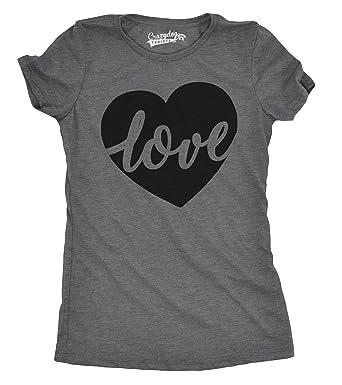 Amazon Com Womens Love Script Heart Cute Valentines Day