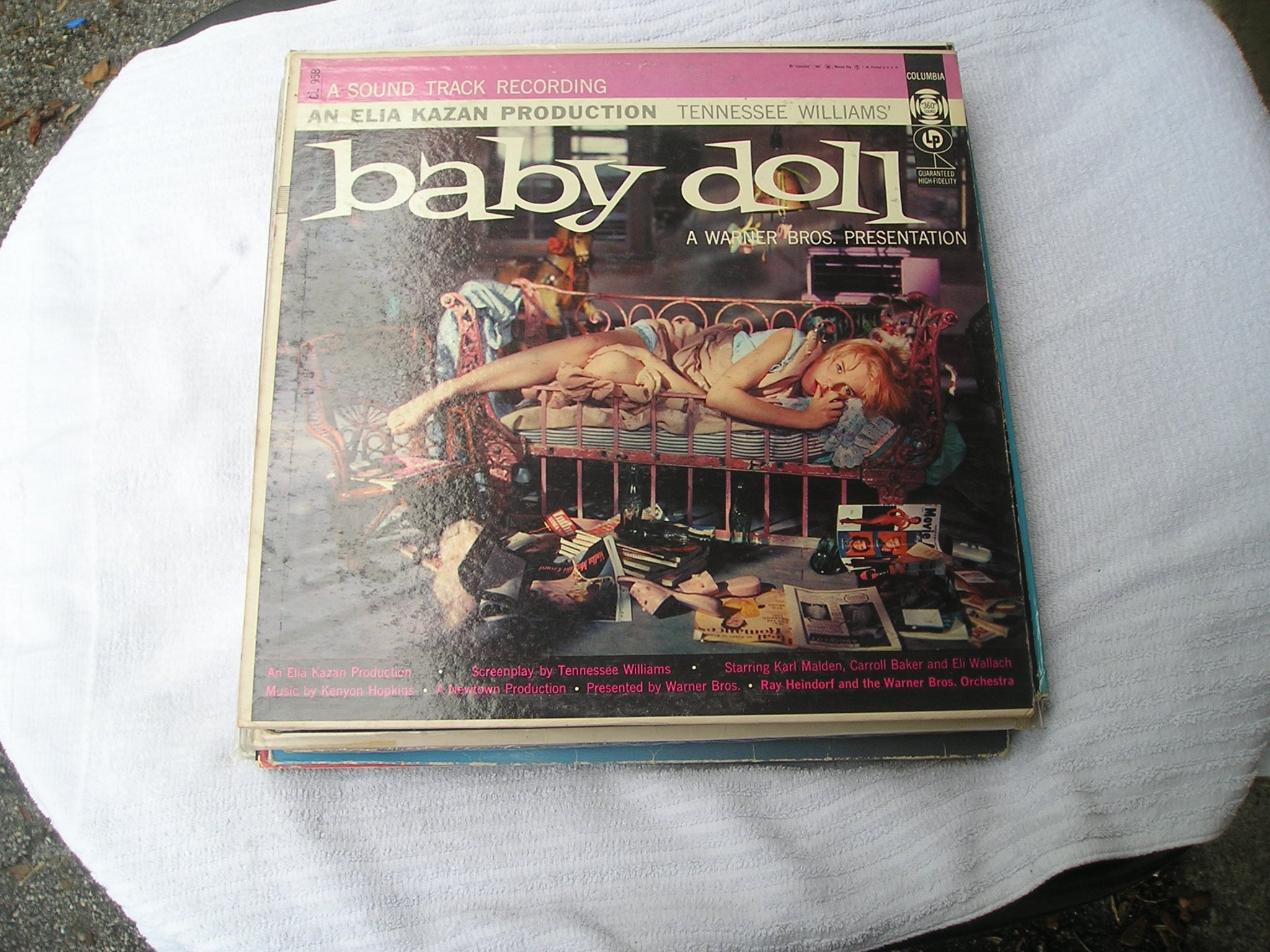 baby doll vinyl lp a sound track recording an elia kazan production baby doll starring karl malden carroll baker and eli wallach etcetc a warner bros presentation ray heindorf and the warner bros orchestra with smiley lewis
