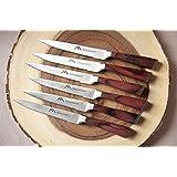 Steak Knife / Premium Restaurant Quality Steak Knives Set of 6 & Wooden Luxury Gift Box by MyHouseHold101