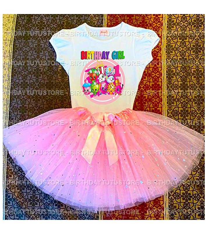 -With NAME- Shopkins 2nd Birthday Dress Pink Party Tutu Outfit