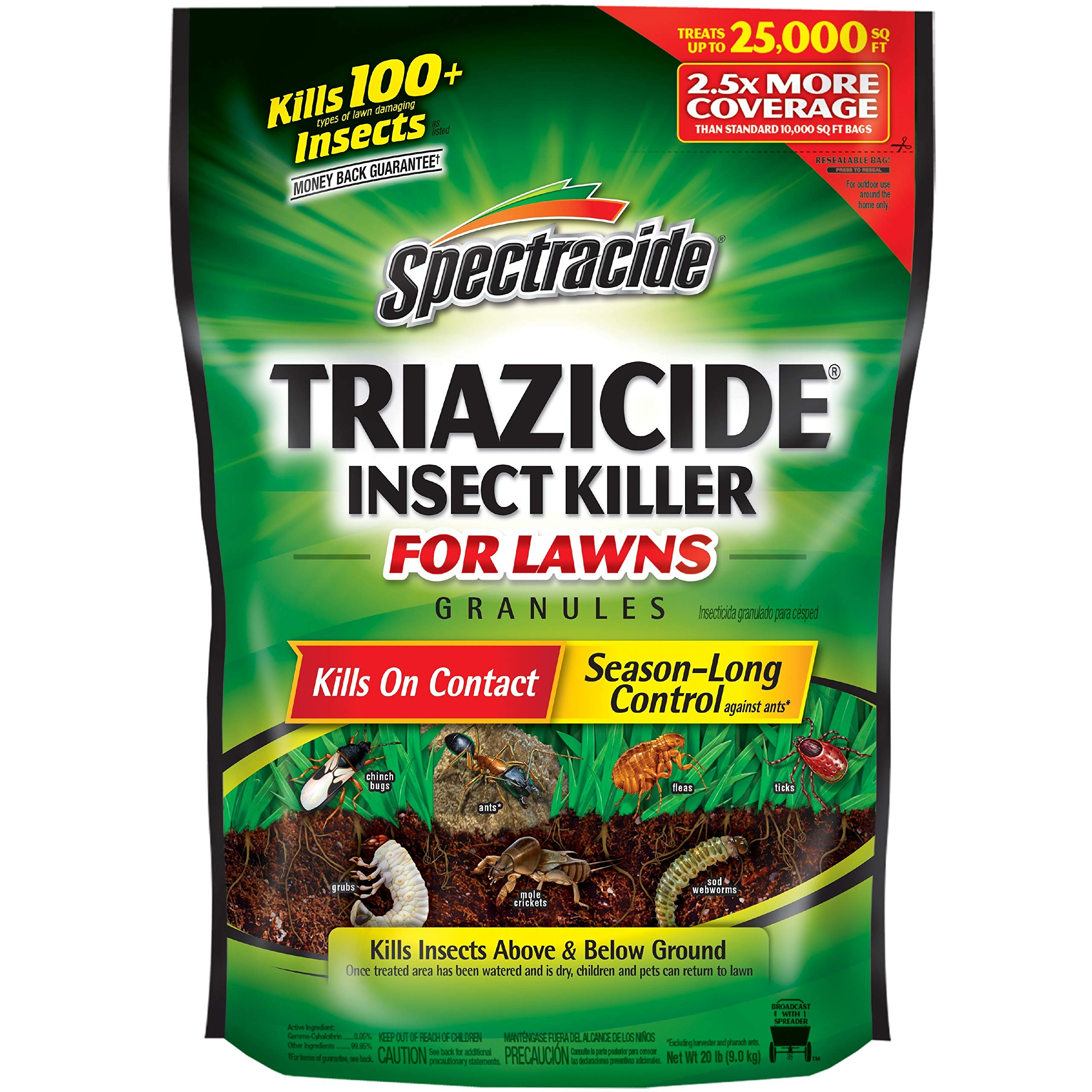 Spectracide Triazicide Insect Killer For Lawns Granules, 20-Pound, 2-Pack by Spectracide