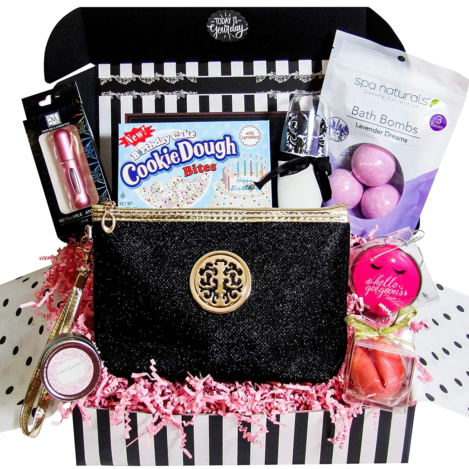Women S Birthday Gift Basket Surprise Box Set Unique Beauty Kit Idea For Mom Sister Aunt Best Friend Girlfriend Special Present Includes Variety Of Female Beauty Essentials That She Will Love