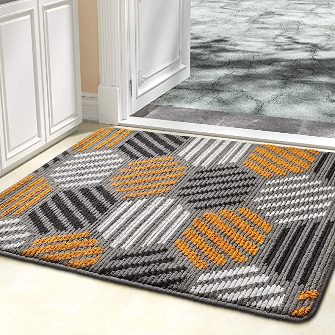 Color Geometry Indoor Doormat Outdoor Indoor Mat 20 X32 Waterproof Non Slip Washable Quickly Absorb Moisture And Resist Dirt Rugs Garden Outdoor
