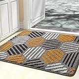 """Color&Geometry Indoor Doormat, Indoor Outdoor 24""""x36"""" Mat Waterproof, Non Slip Washable Quickly Absorb Moisture and Resist Di"""