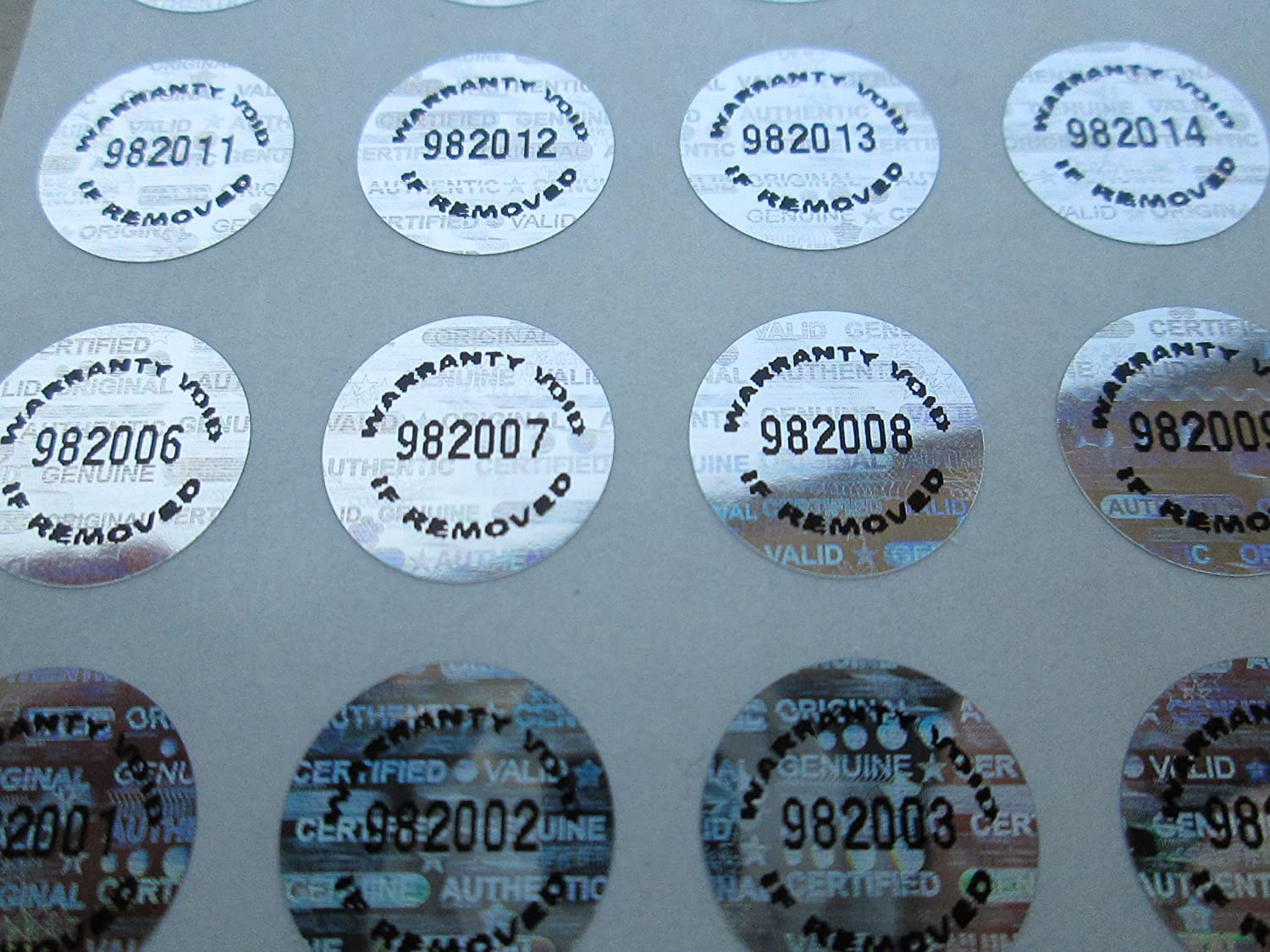 Amazon com 250 silver tamper evident warranty void high security labels stickers 5 inch round office products