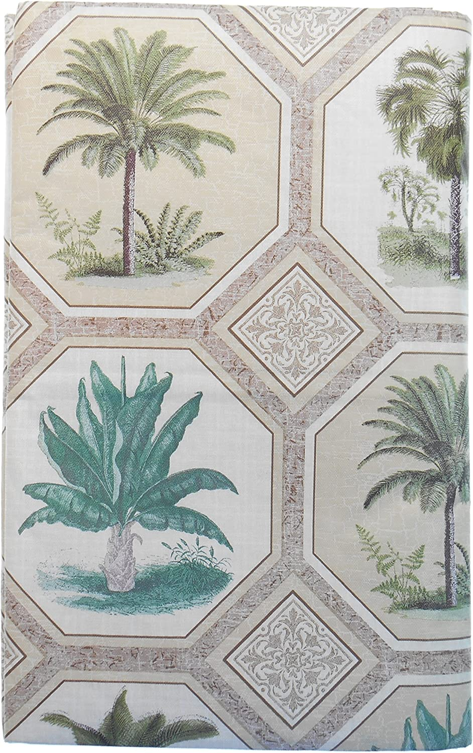Elrene Home Fashions Palm Trees Vinyl Tablecloth –