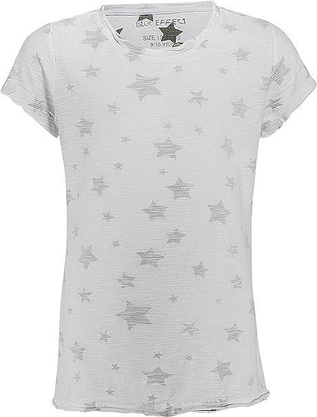 Kinder T-Shirt Shirt  für Mädchen 122-128 Toll T-Shirt weiß
