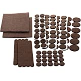 Floor Effects Felt Pads, Heavy Duty Adhesive Furniture Pads - Floor Protector for Tiled, Laminate, Wood Flooring - 98 Pieces Floor Protectors, Felt Chair Pads, Hardwood Floor Protector of Various Sizes Included