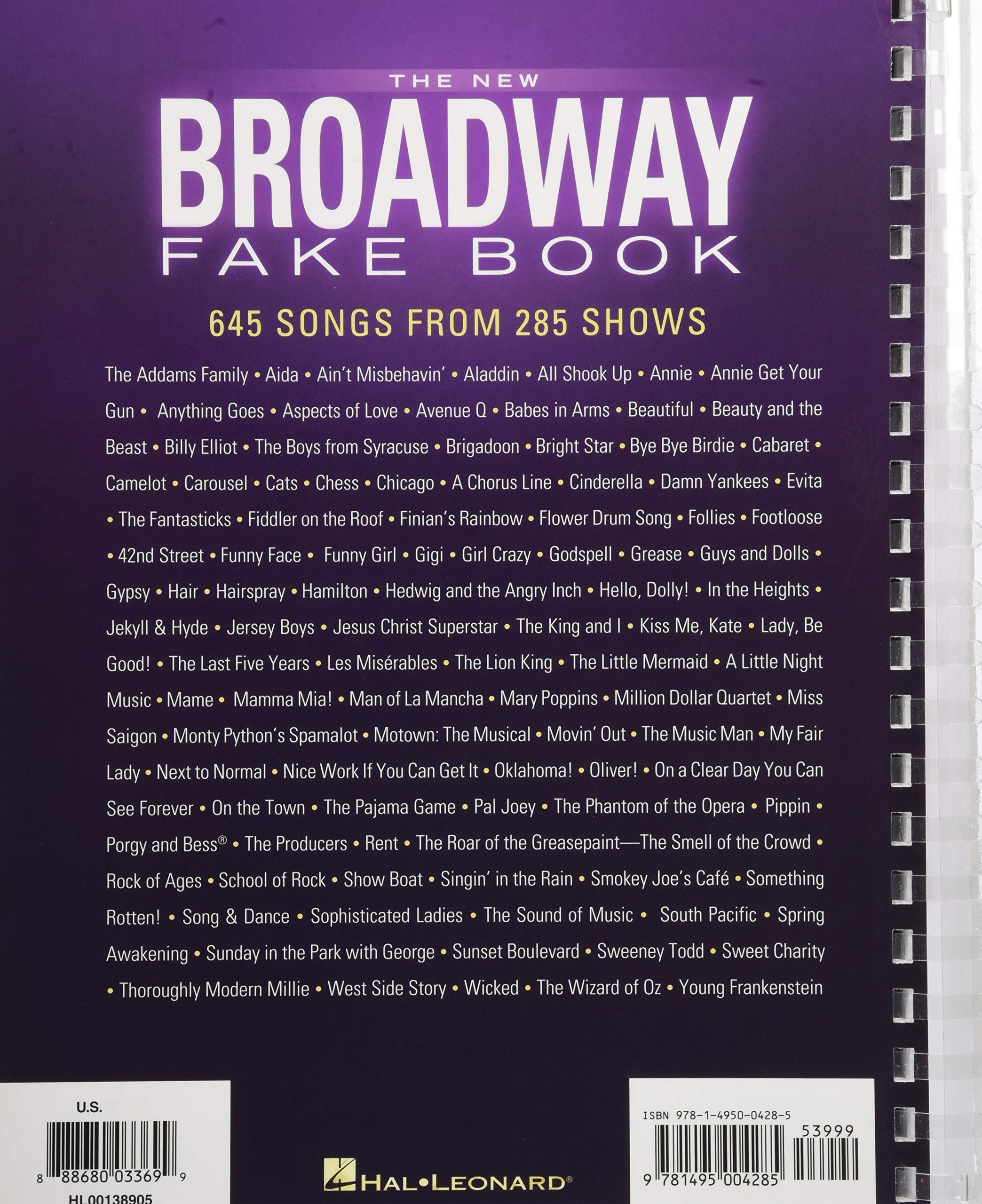 The New Broadway Fake Book: 645 Songs from 285 Shows: Hal