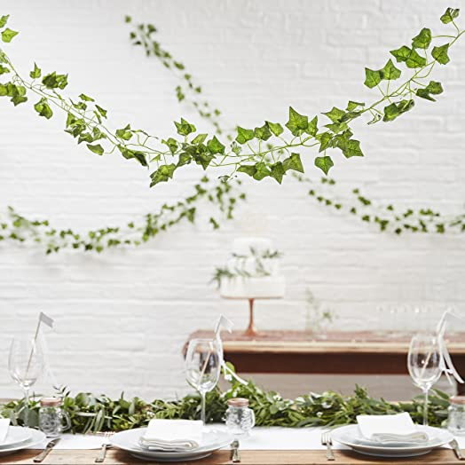 Ginger ray 5 pack of artificial fake hanging vines plant leaves ginger ray 5 pack of artificial fake hanging vines plant leaves garland for wedding decorations junglespirit Gallery