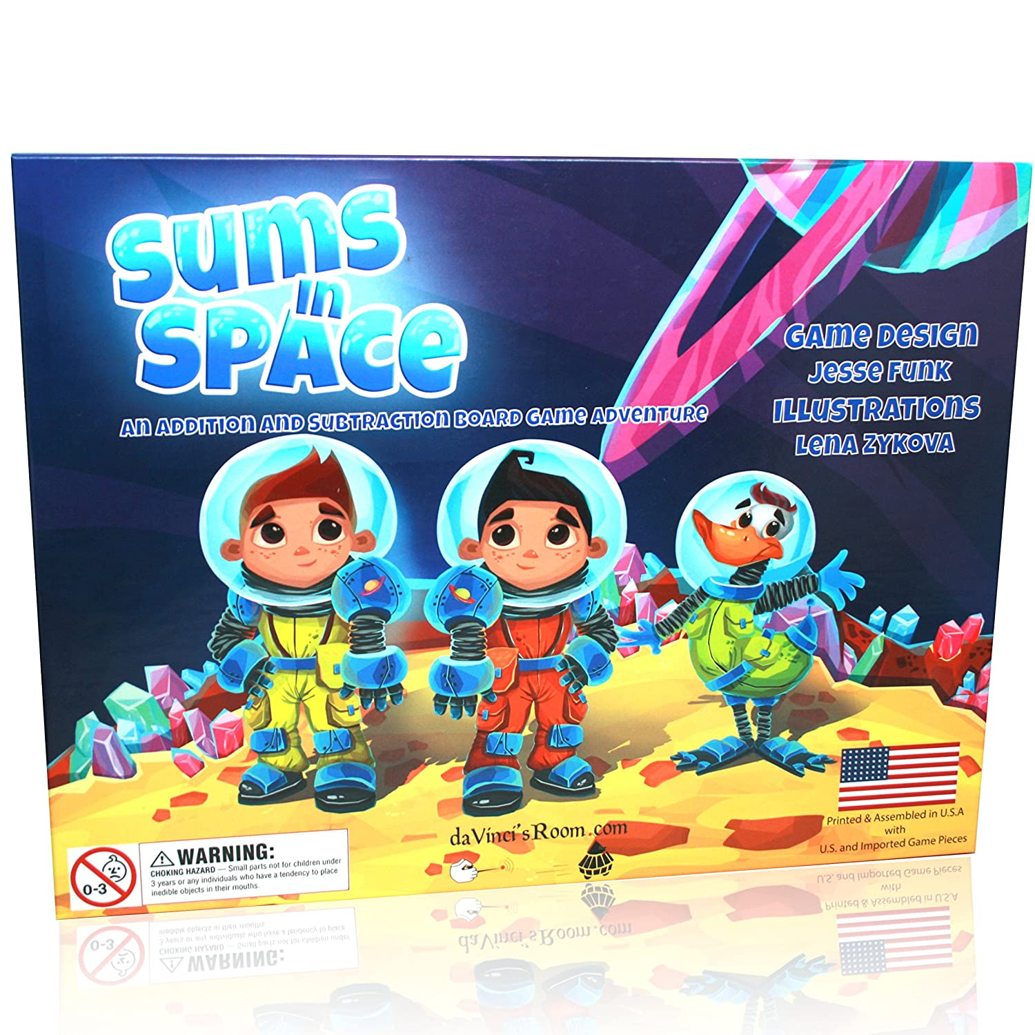 Amazon.com: Sums in Space - An Addition & Subtraction Math Game for ...