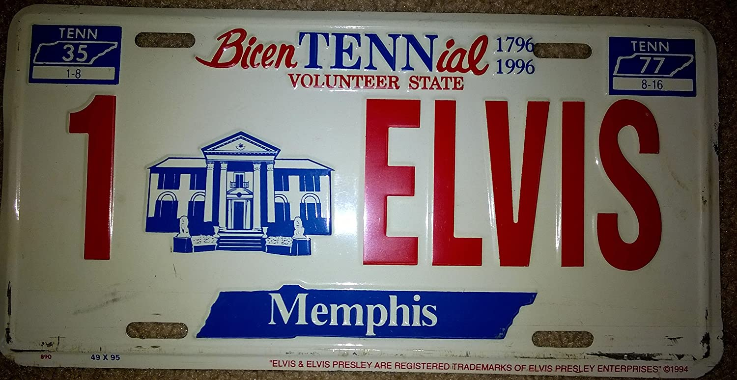 Amazon.com: Elvis Presley Novelty License Plate, BicenTENNial, 1796 ...