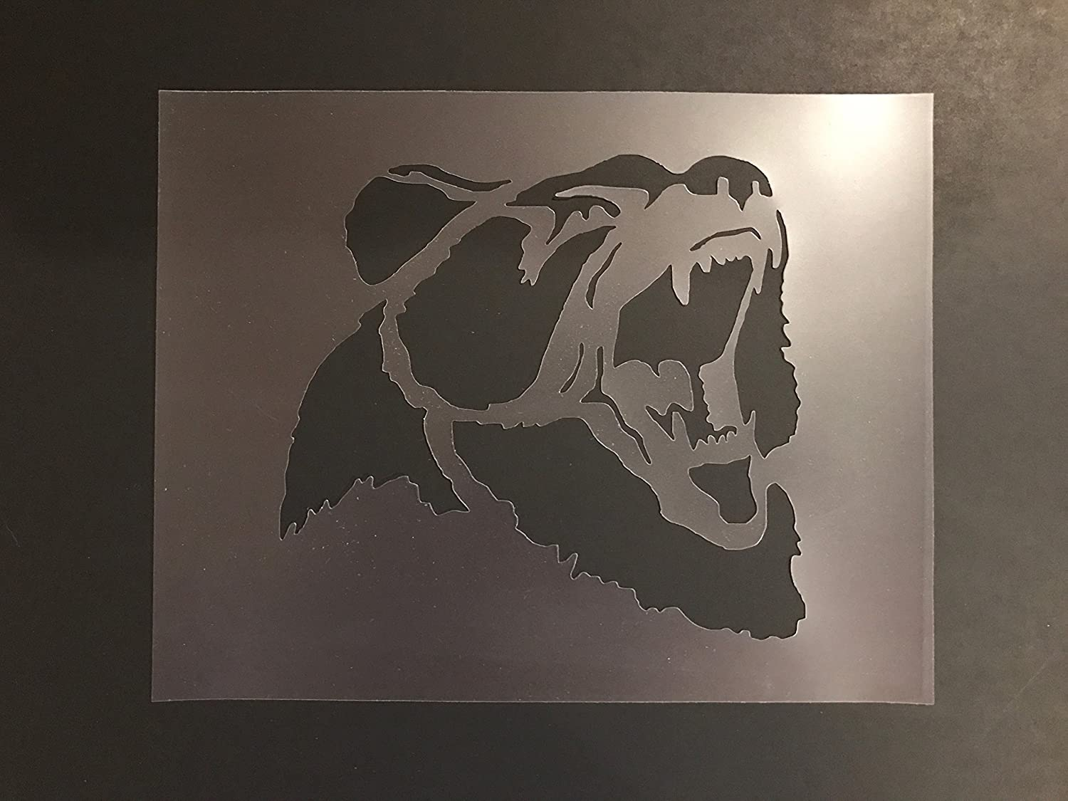 Bear Stencil #1 Reusable 10 mil Thick 7in x 9in sheet