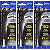 Fisher Space Pen - 3 Pressurized Cartridges Blue Ink Fine Point #SPR1F