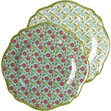 Grasslands Road Melamine Spring Meadow Lunch Plate Assortment, 8-1/5-Inch, Set of 6