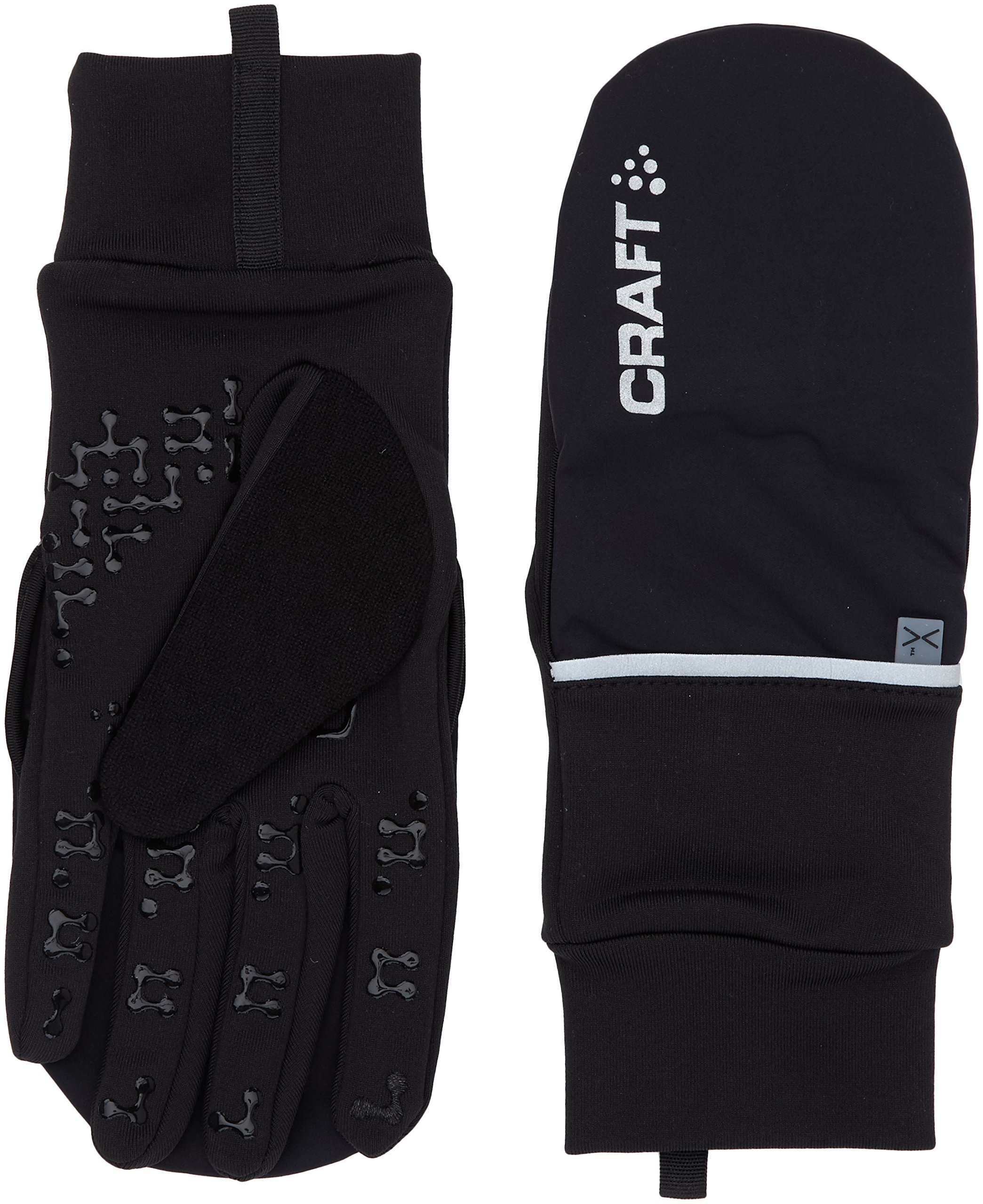 Craft Sportswear Hybrid Weather 2-in-1 Bike Cycling Mitten Glove, Black, X-Large