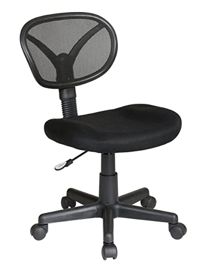 Superieur Office Star Screen Back Task Chair With Mesh Seat, Black