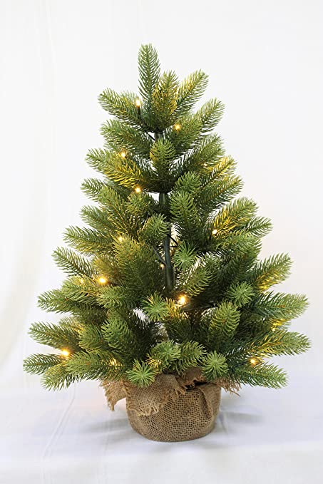 holiday stuff small christmas treereal feel aritificial little tabletop christmas tree prelit pe