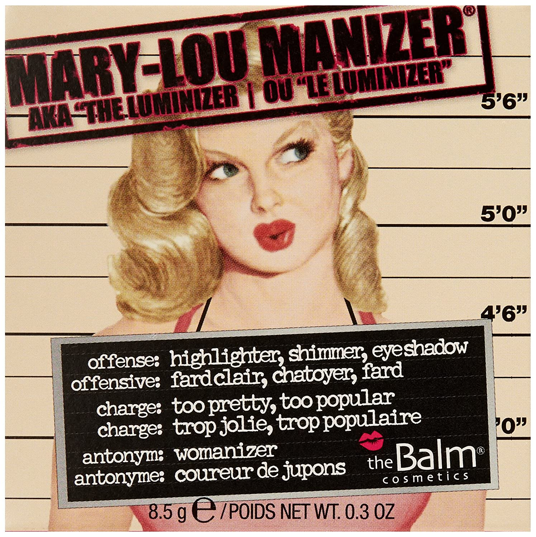 bf528c286 Amazon.com: Mary-Lou Manizer Honey-Hued Luminizer, Highlighter, Shadow &  Shimmer, Subtle Glow, .32 Oz: theBALM: Luxury Beauty